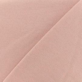 Tissu sweat léger Molletonné Pailleté - barbe à papa x 10cm
