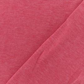 Tissu sweat léger chiné - fraise x 10cm