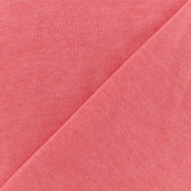 Oeko-Tex mocked light sweat fabric - coral x 10cm
