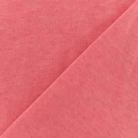 Tissu sweat léger chiné - corail x 10cm