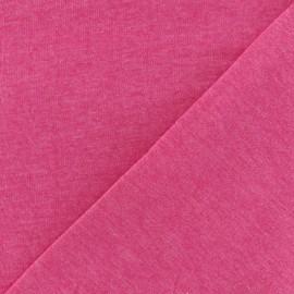Tissu sweat léger chiné - camelia x 10cm