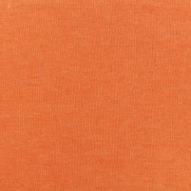 Tissu sweat léger chiné - clementine x 10cm