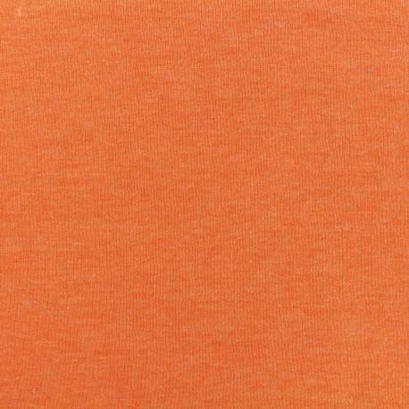 Oeko-Tex mocked light sweat fabric - clementine x 10cm