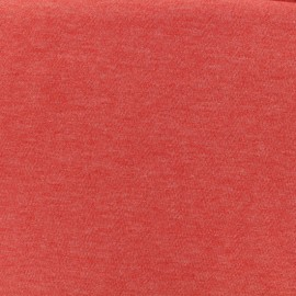 Oeko-Tex mocked light sweat fabric - blood orange x 10cm