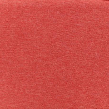 Oeko-Tex mocked light sweat fabric - blood orange x 10cm