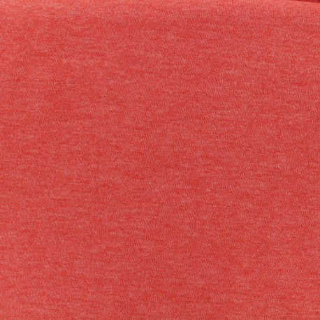 Tissu Oeko-Tex sweat léger chiné - orange sanguine x 10cm