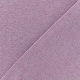 Tissu sweat léger chiné - parme x 10cm