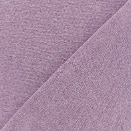 Oeko-Tex mocked light sweat fabric - lilac x 10cm