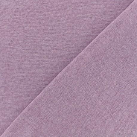 Tissu Oeko-Tex sweat léger chiné - parme x 10cm