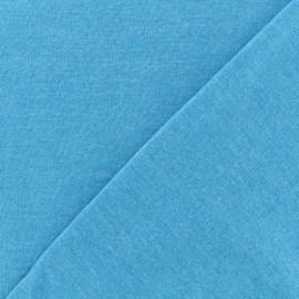 ♥ Coupon 10 cm X 150 cm ♥ Oeko-Tex mocked light sweat fabric - turquoise
