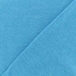 Tissu sweat léger chiné - turquoise x 10cm