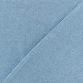Tissu sweat léger chiné - ciel bleu x 10cm