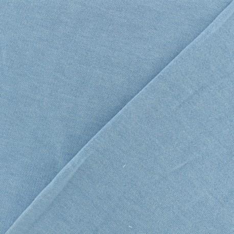 Oeko-Tex mocked light sweat fabric - light sky x 10cm