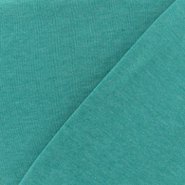 Tissu sweat léger chiné - lagon x 10cm