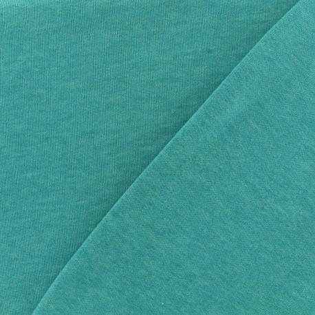 Tissu Oeko-Tex sweat léger chiné - lagon x 10cm