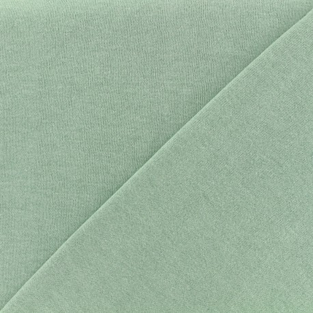 Tissu Oeko-Tex sweat léger chiné - eau sauvage x 10cm