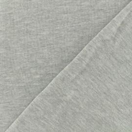 Tissu sweat léger chiné - perle x 10cm