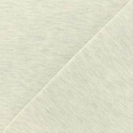 Tissu sweat léger chiné - nuage x 10cm