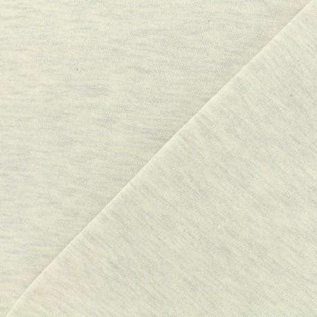 Tissu Oeko-Tex sweat léger chiné - nuage x 10cm