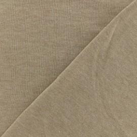 Tissu sweat léger chiné - beige x 10cm