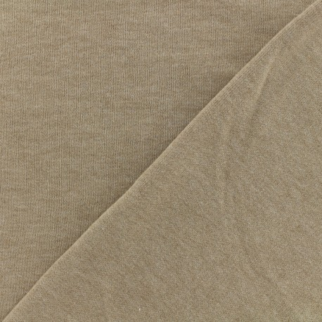 Oeko-Tex mocked light sweat fabric - beige x 10cm