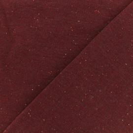 Tissu Oeko-Tex sweat moucheté carmin x 10cm