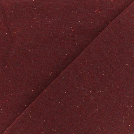 Flecked sweat fabric - carmine x 10cm