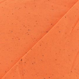 Tissu Oeko-Tex sweat moucheté orange x 10cm