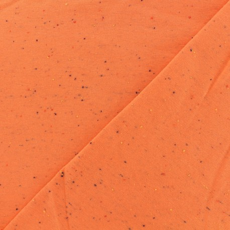 Oeko-Tex Flecked sweat fabric - orange x 10cm