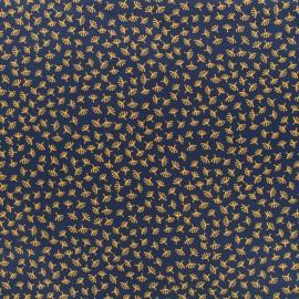 Tissu Microfibre tiny nature by Penelope® - bleu x 10cm