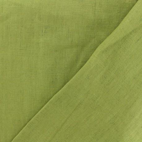 Tissu lin lavé (laize: 135cm) avocat x 10cm