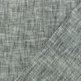 Plain cotton linen canvas fabric - grey x 10cm