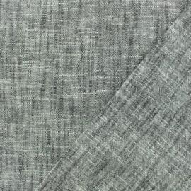 Tissu toile de coton lin uni - gris x 10 cm