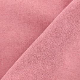 Tissu sweat léger Molletonné Pailleté - fraise x 10cm