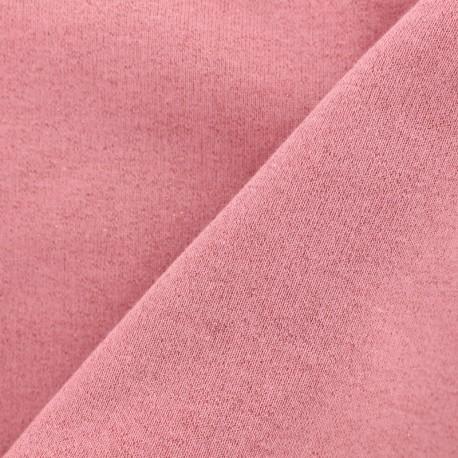 Jogging fabric Molletonné Pailleté - strawberry x 10cm