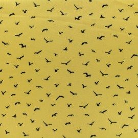 Tissu Microfibre Pearl bird by Penelope® - moutarde anglaise x 10cm