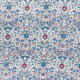 Liberty fabric - palmeira C blue x 10cm