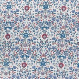 Tissu Liberty - palmeira C bleu x 10cm