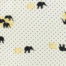 Tissu Microfibre Pearl elephant by Penelope® - blanc x 10cm