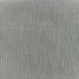 ♥ Coupon tissu 130 cm X 140 cm ♥ voile de coton Tiny Stripes - noir