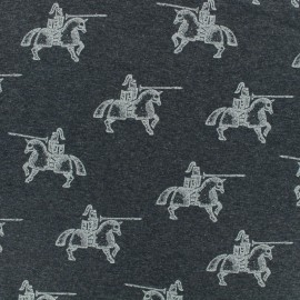 Tissu jersey Poppy Armoured knight - bleu foncé x 10cm