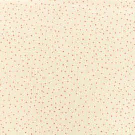 Mini Dots light linen viscose fabric - pink x 10cm