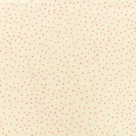 Tissu lin viscose léger Mini Dots - rose x 10cm