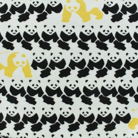 Oeko-Tex jersey designed by Poppy Find the panda - black and white x 10cm