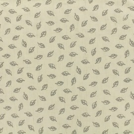 Tissu lin viscose léger Linen Leaves by penelope® - écru x 10cm