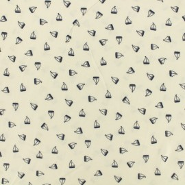 Tissu lin viscose léger Linen Boats by penelope® - écru x 10cm
