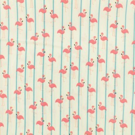 Flamingo Water-repellent Softshell fabric x 10cm