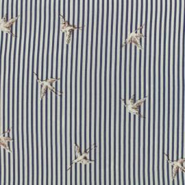 Tissu viscose Envol - bleu marine x 10 cm