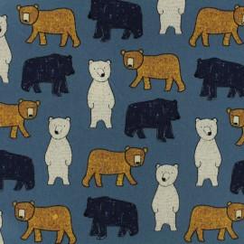 Tissu Oeko-Tex Poppy Big bear - denim x 10cm