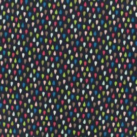 Tissu Oeko-Tex coton jersey Poppy Colorful toucan - nuit sombre x 10 cm